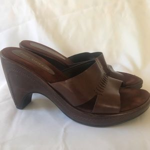 Enzo Angiolini Women Wedge Sandals Slides 7M